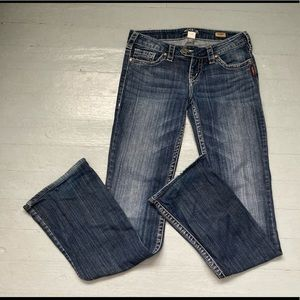 Silver Tuesday bootcut low rise slim denim jeans